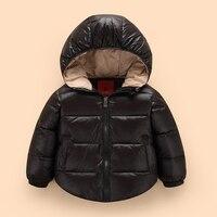 2017 Yeni Ücretsiz kargo Yüksek Kalite Perakende çocuk Kış Aşağı Ceketler Bebek Kat Aşağı Erkek Giyim Kalınlaşma Perakende
