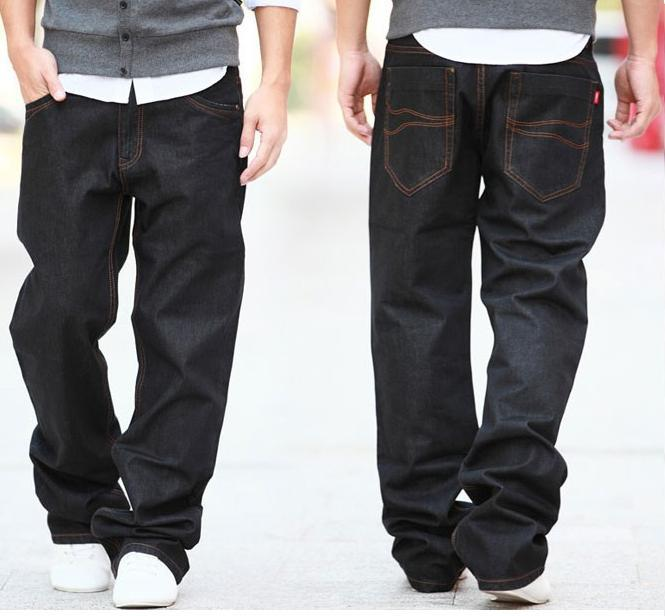 Online Shop Jeans Men Black Color Lightweight Full Length Plus ...