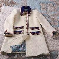 Dressnow Женская длинная куртка 2018 осенняя куртка с длинным рукавом Женские повседневные куртки для дам твидовая куртка пальто