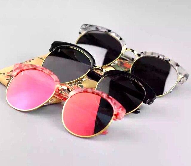 Gentle V Brand metal Half frame Polarized deborah sunglasses women vintage women's sun glasses classic oculos de sol feminino