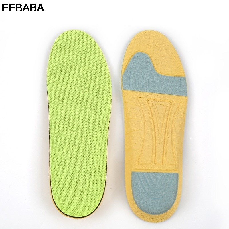 EFBABA Running Sports Insole Foot Arch Support Sweat Absorbent Breathable Damping Insole Men Women Shoes Pad Inserts Accessoire