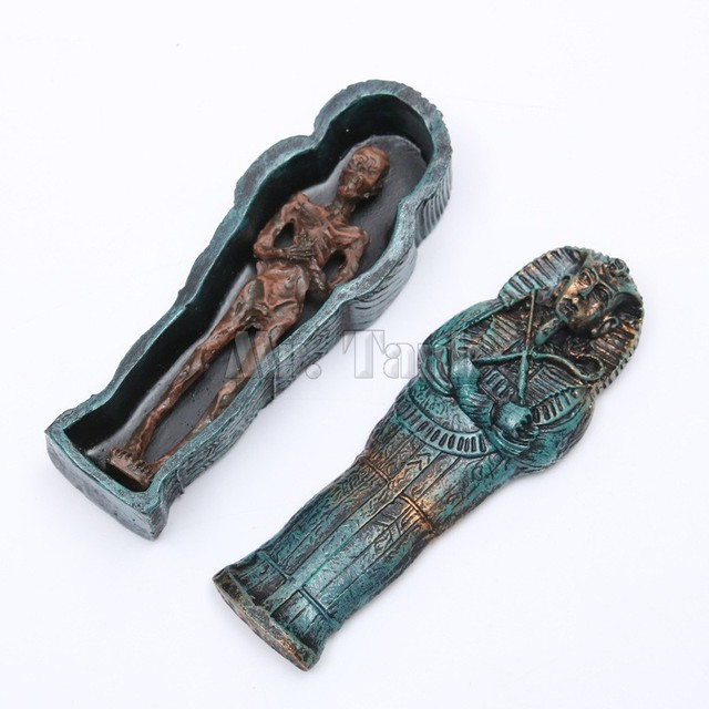 Mr. Tank Egyptische Mummies Ornament Vis Aquarium Reptiel Landschap Duurzaam Hars Aquarium Accessoires Decoraties