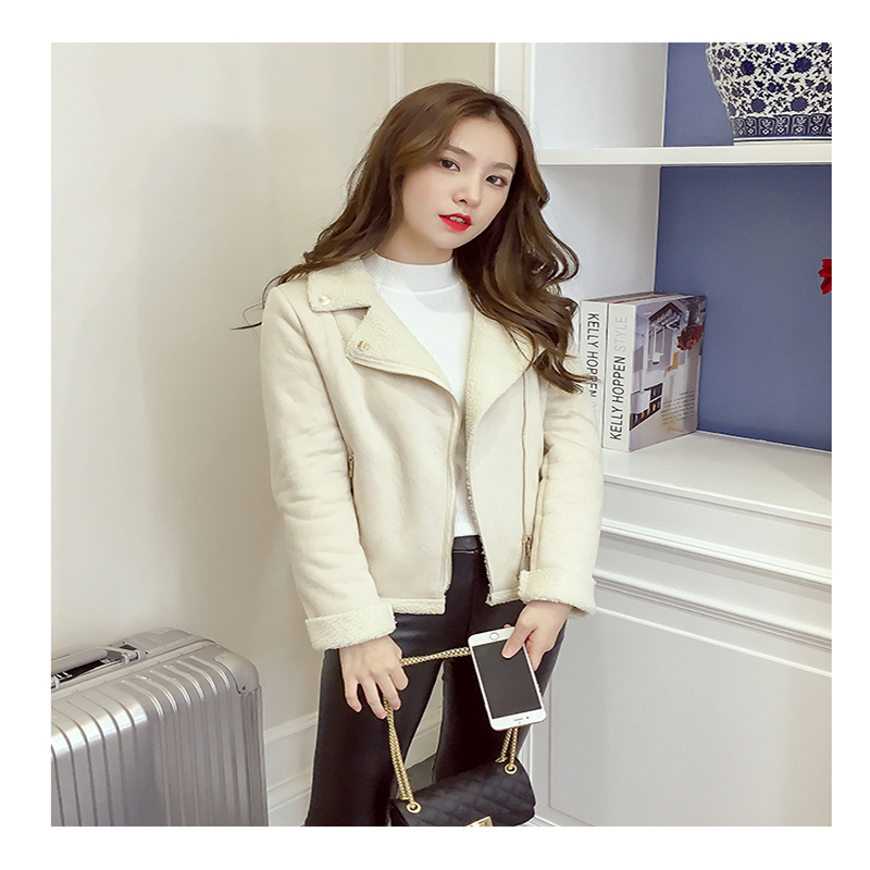 Et 2018 Automne Nouveaux De En D'hiver Petit Cheveux Agneau Sauvage Veste Étudiants Court Peau Vêtements White Nouvelle Jvzkass Z260 pink Femme Daim wtfqFF