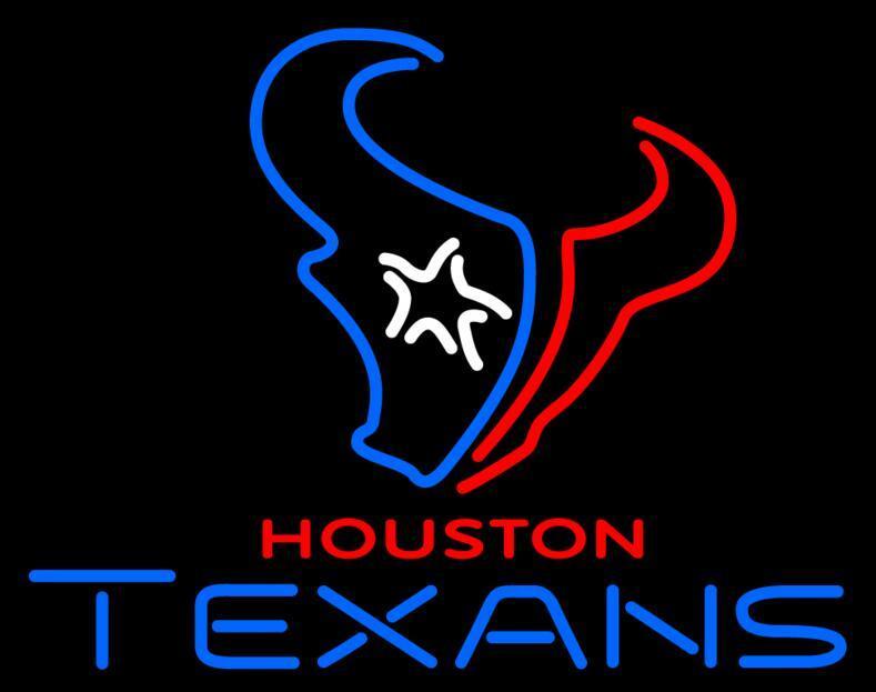 Nouvelle enseigne au néon en verre Texans Housyon