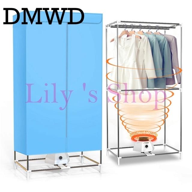 DMWD Electric Clothes Dryers Household Folding Warm Wind Drying Wardrobe  Portable Laundry Garment Rack Sterilization Dryer EU US