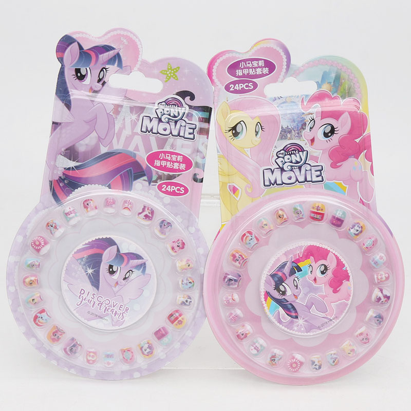Image 4 - New My Little Pony Toys PVC Pony Stickers Pack Children Girl Nail Stickers Removable 3D Rainbow Dash Twilight Sparkle Pinkie Pie-in Action & Toy Figures from Toys & Hobbies