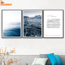 COLORFULBOY Wall Art Print Chopin Score Sea Landscape Nordic Posters And Prints Canvas Painting Pictures For Living Room