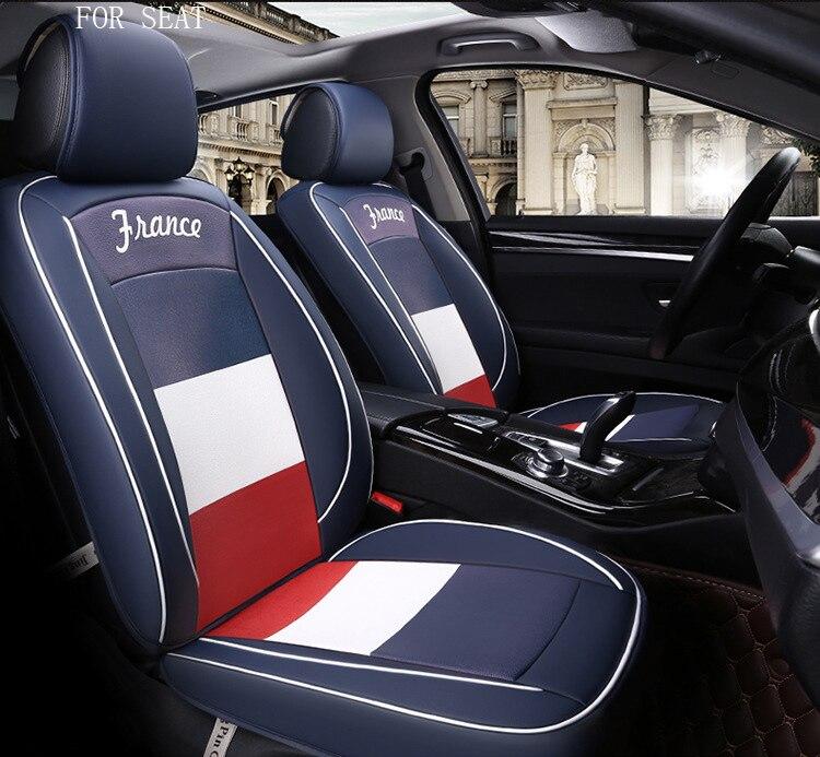OUZHI Unique Design Flag Pattern Pu Leather Car Seat Cover