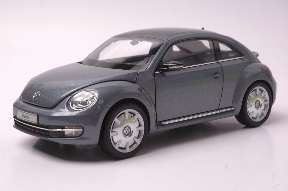 1:18 Diecast Model for Volkswagen VW Beetle Gray Minicar Alloy Toy Car Miniature Collection Gift 1 18 масштаб vw volkswagen новый tiguan l 2017 оранжевый diecast модель автомобиля