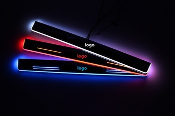 eOsuns Customized LED moving door scuff Nerf Bars & Running Boards door sill light for citroen c5, 4pcs front and back