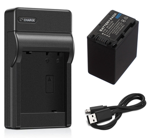 Battery Pack + USB Charger for Sony NP-FV30, NP-FV50, NP-FV50A, NP-FV70, NP-FV70A, NP-FV100, NP-FV100A InfoLithium V Series
