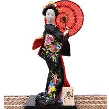 Party dekoration kimono lady puppe kreative hochzeit dekoration hochzeit souvenirs 30 cm schwarz farbe handwerk
