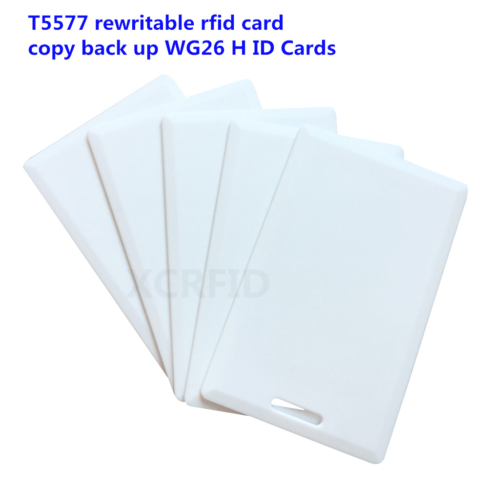 Rfid 125khz T5577 Rewritable 1.8mm Thickness Card Copier Duplicator Clone Back Up WG26 H ID Cards