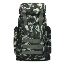 цена на JuFIT Large Camping Backpack Molle Tactical Military Rucksack Outdoor Sports Bag Waterproof Hiking Hunting Backpacks Camouflage
