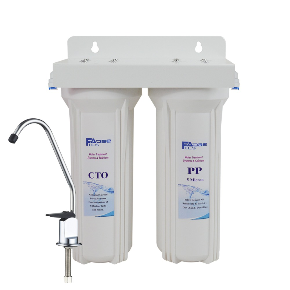 2-Stage Under Sink/counter Drinking Water System removes sediment, chlorine, organic chemicals ,bad taste &Odor-no Tank,no power organic farming under basmati rice wheat green gram cropping system