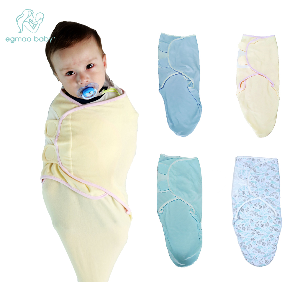 EGMAOBABY Newborn Baby Wrap Swaddle Blanket, Baby Kids Toddler Swaddle Sleeping Bag Sleep Sack Stroller Wrap For 0-6 Month Baby
