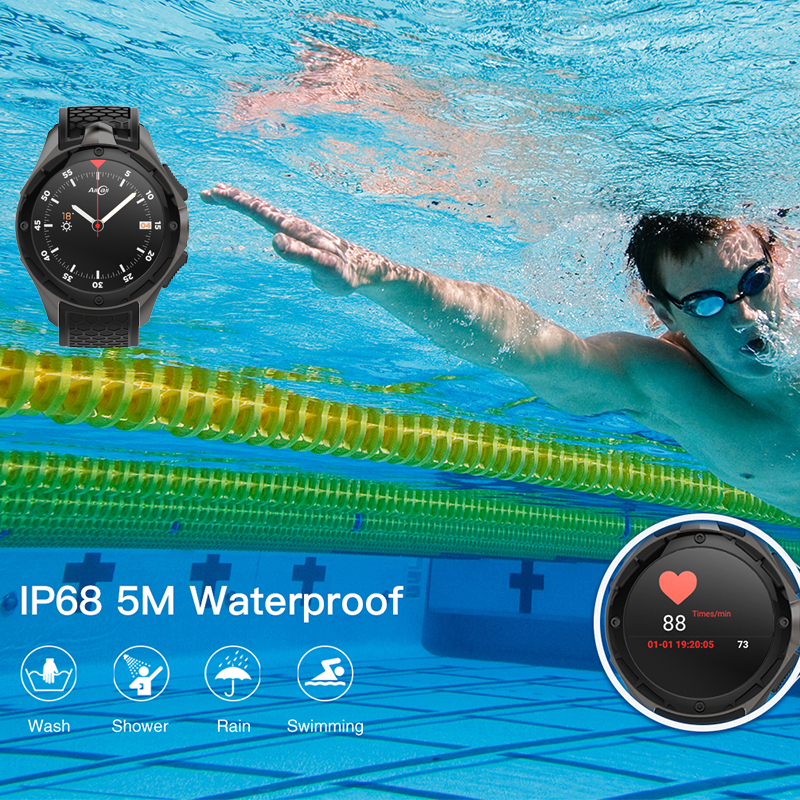 ip68 professional waterproof MTK6580 Quad Core Nano Sim Smartwatch with hd camera 3G Android smart watch