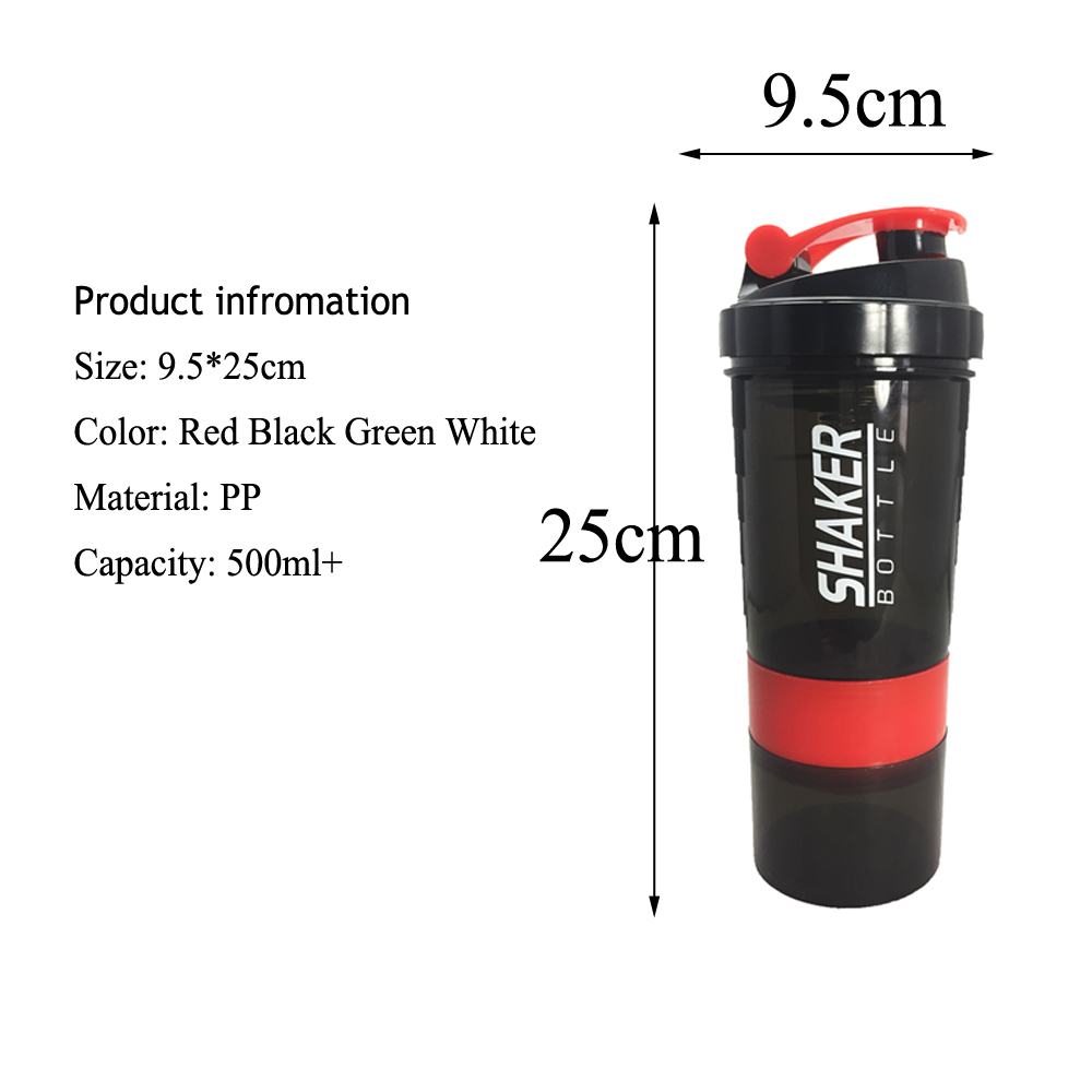 Image 4 - Creative Protein Powder Shaker Bottle Sports Fitness Mixing Whey Protein Water Bottle Sports Shaker for Gym Powerful Leakproof-in Water Bottles from Home & Garden