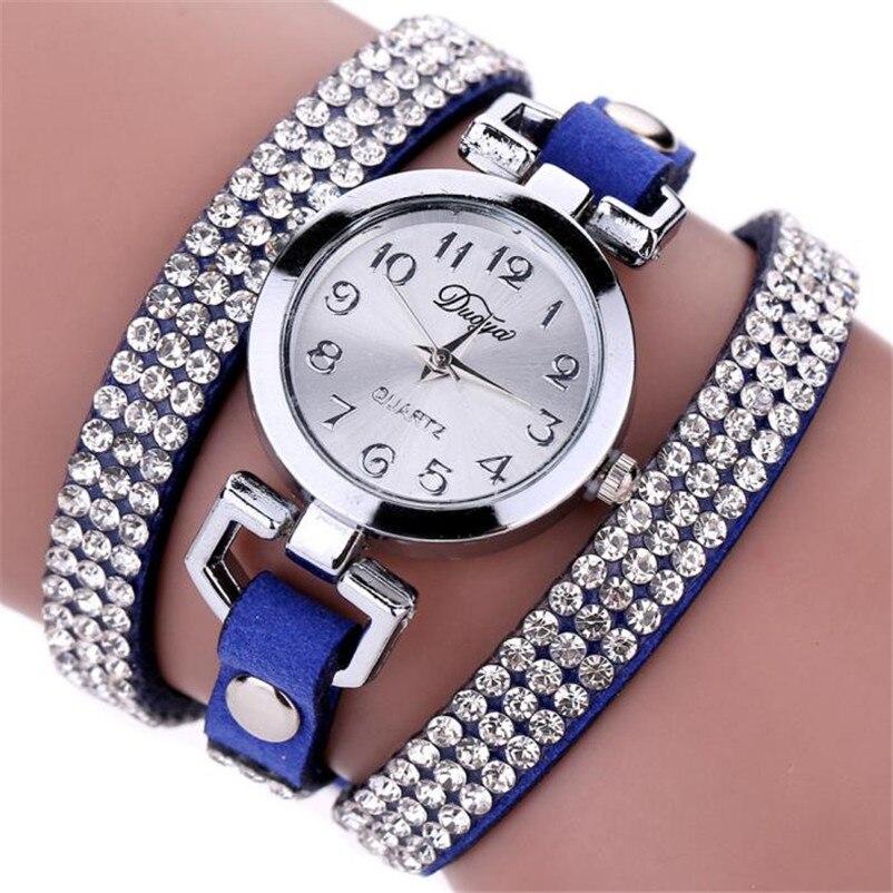 High Quality women fashion casual watch luxury dress ladies Leather Band Analog Quartz Wrist Watch clock Montre femme O10 (11)