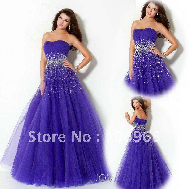 NEW LOOK Free Shipping Quinceanera Dresses Strapless E082-in ...