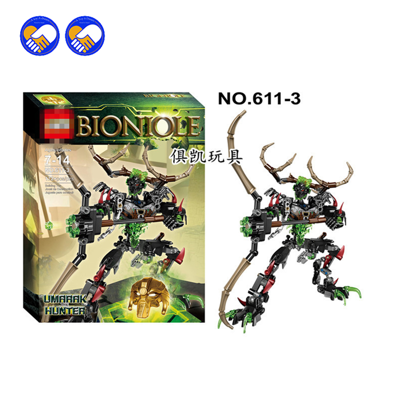A toy A dream XSZ 611-3 Biochemical Warrior BionicleMask of Light Bionicle Umarak Hunter Bricks Building Block Best Toys a toy a dream new bionicle mask of light xsz 708 serieschildren s kopaka monster of ice bionicle building block toys