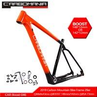 29er Полный карбоновый гоночный велосипед рама 29 дюймов carbomania бренд MTB заготовка рамы набор тормозных Рам 1-1/8