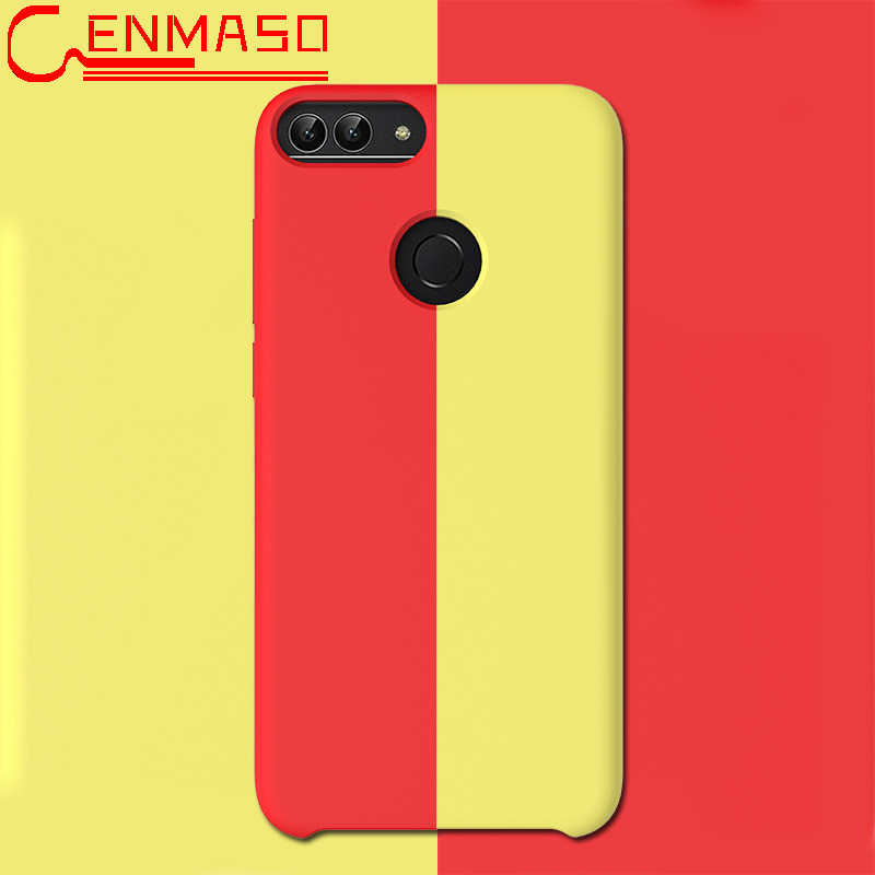Huawei P Smart 2019 Case Soft Liquid Silicon Back Cover Huawei P30 Pro P20 Mate 20 Pro X Honor 9 10 Lite V20 8C 8X Matte Case