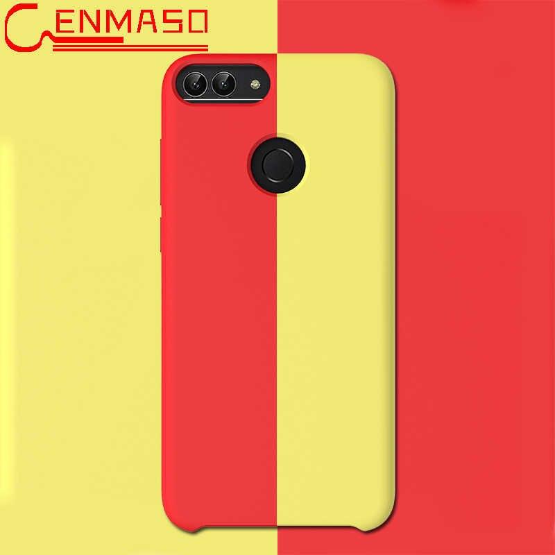Huawei P Smart 2019 Case Soft Liquid Silicon Back Cover Huawei P30 Pro P20 Mate 20 Pro X Honor 9 10 Lite V20 8C 8X Matte Case
