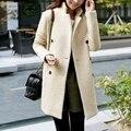 Новые женские осенние и зимние одежды в разделе шерстяное пальто был тонкий шерстяное пальто женские платья женщин дешевую одежду китай
