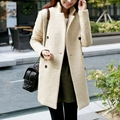 Nuevas mujeres de otoño y el invierno ropa en la parte larga abrigo de lana era delgada abrigo de lana para mujer mujeres visten ropa barata china