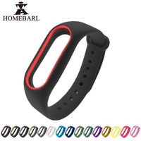 New Colorful Silicone Wrist Strap Bracelet Double Color Replacement watchband For Original Miband 2 Xiaomi Mi band 2 Wristbands