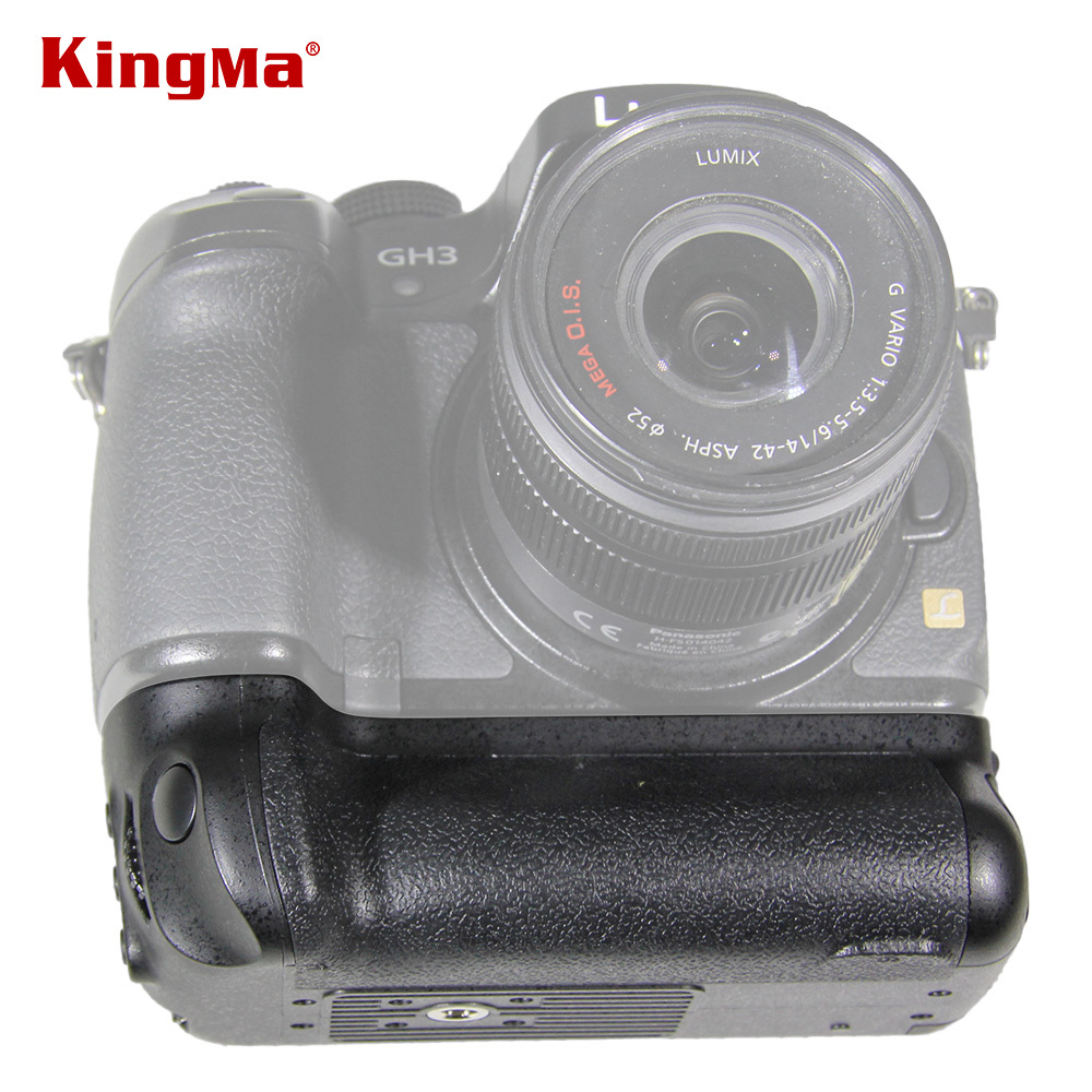 ФОТО KingMa DMC-GH3 Power Handle Grip Professional Vertical Battery Grip for Panasonic Lumix DMW-GH3 GH3 DMW-GH4 GH4 Camera
