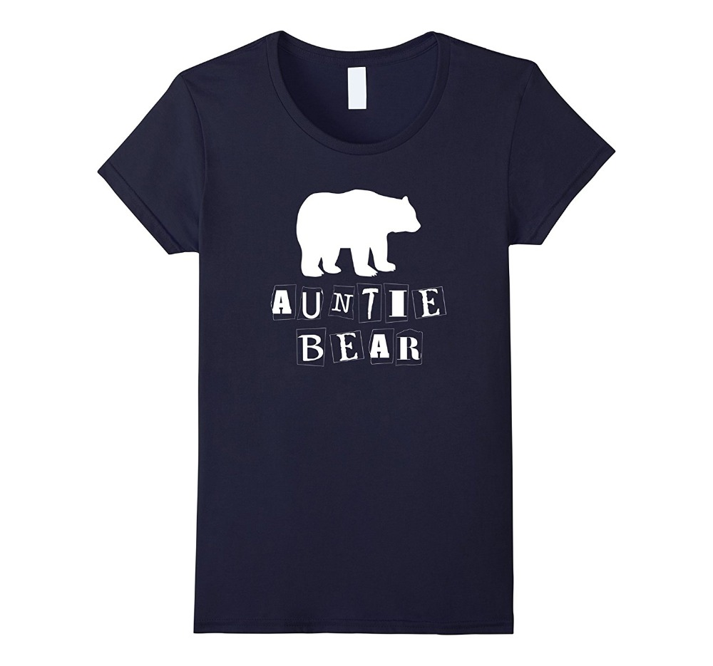2018 New Arrival Funny MenS Compression O-Neck Auntie Aunt Bear Family Short Sleeve T Shirts