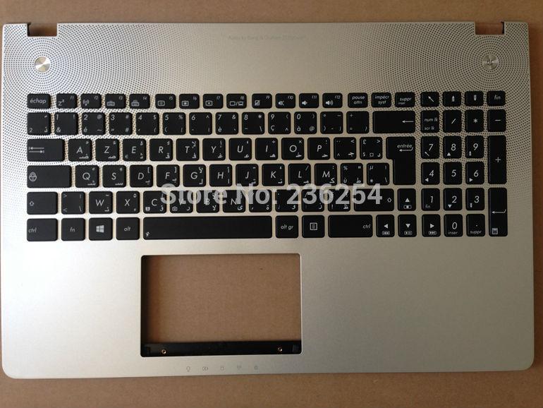 Nueva AR-FR AZERTY árabe teclado francés para Asus N56 N56 N56D N56DP N56DY N56V N56VB AR-FR Win8 con topcase 9Z. n8BBQ. k2A