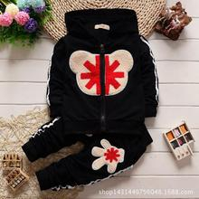 2016 Fashionn New Spring Autumn Chidren Boys Hands Mi Word Kids Baby Girl Suit Embroidered Towels