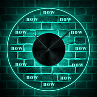 1Piece Time Is Now Wall Clock Clock Modern Wall Clock Wall Art Late Person Procrastinate Gift Decorative Time Clock