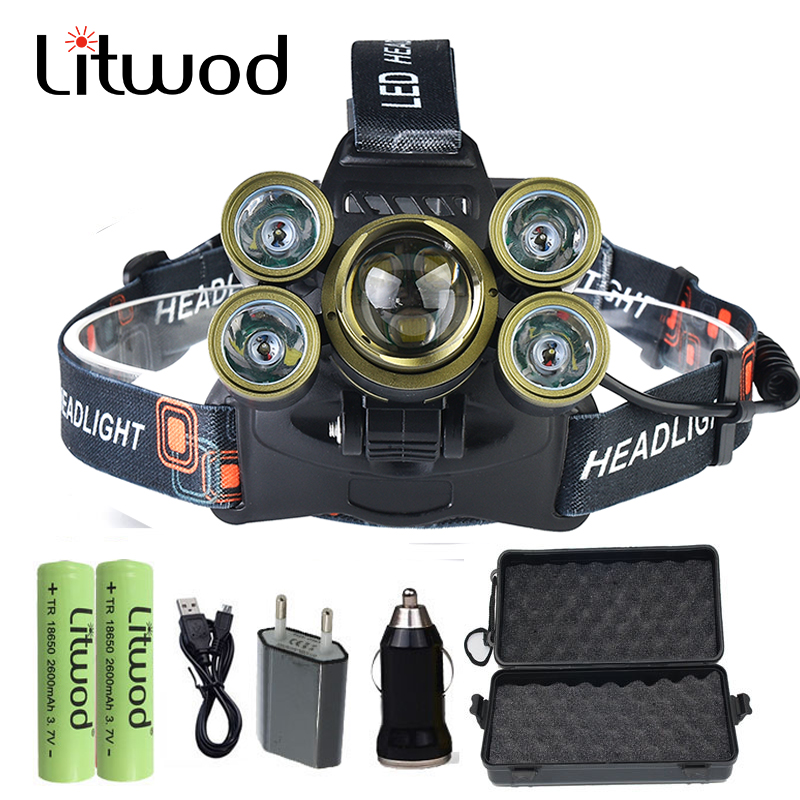 Rechargeable powerful 7 LEDs 3T6+4R5 Headlamp Headlight Head Lamp lighting Light Torch Fishing Lantern for gift set