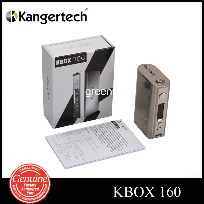 Original Kanger KBOX 160W TC VV/VW Box Mod Supports Ni/Ti/SS/NiCr Powered by Two 18650 Batteries 2017 new arrival fashion baby boys kids blazers boy suit for weddings prom formal spring autumn purple dress wedding boy suits