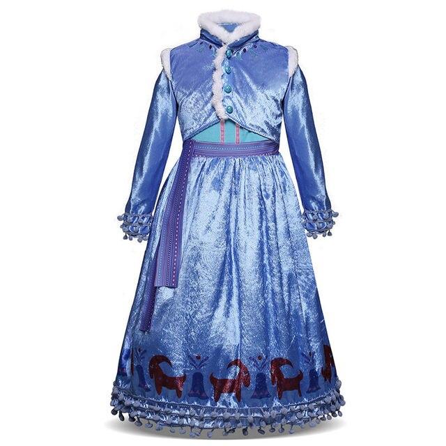 Ragazze Del Fumetto Della Principessa Costume 4-10 Anni Del Bambino Vestito  A Maniche Lunghe f0055fcd1207