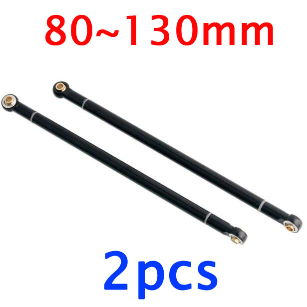 2pcs Pull bar Linkage Metal link rod spare parts for 1/10 SCX10 D90 RC Crawler truck car 80/90/95/100/110/120/130mm