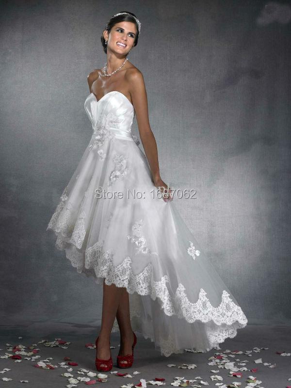 Beach Wedding Dresses Short Front Long Back - Wedding Dress Ideas