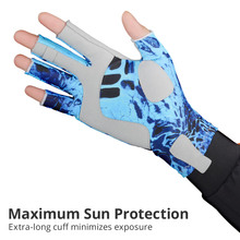 KastKing Fishing Gloves SPF 50 Breathable  Sun Men Hands Protection