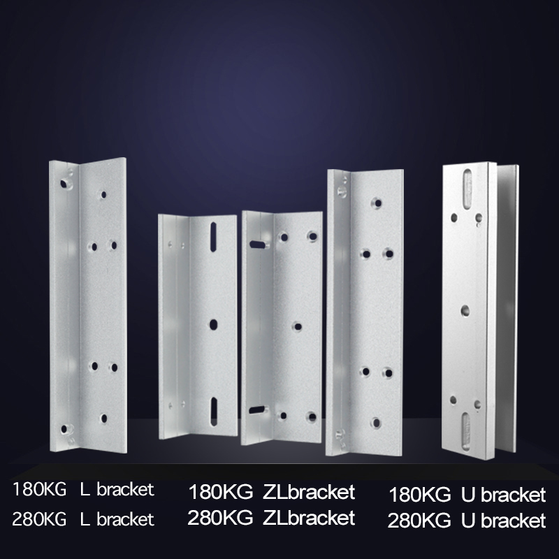 Metal ZL/U/L Bracket for 180KG/280KG Magnetic Lock With High Quality For Door Access Control System free shipping x6 rfid door entry system 180kg magnetic lock and u bracket for glass door