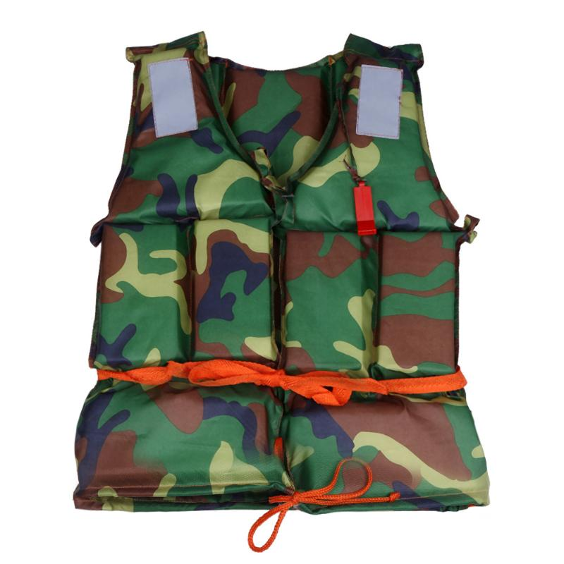 1pcs Polyester Adult Life Jacket Water Sports Universal Life Jacket + Whistle For Fishing Surfing Outdoor Camping Survival Tool