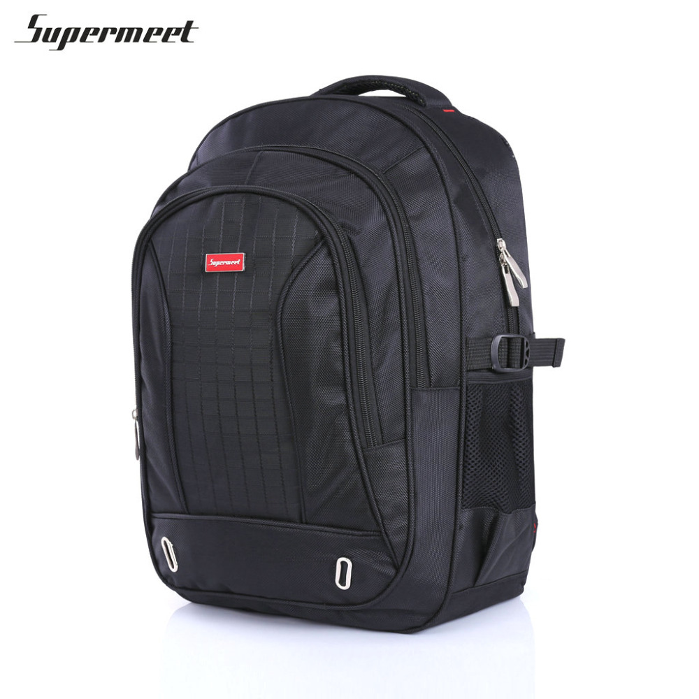 Supermeet Backpack Men Mochila Tide Plaid Nylon School Backpacks for Boys Waterproof Bagpack Black Men Laptop Backpack Schoolbag men backpack student school bag for teenager boys large capacity trip backpacks laptop backpack for 15 inches mochila masculina