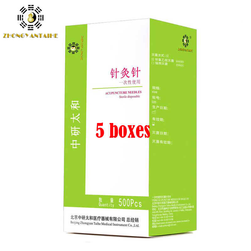 5boxes Authentic ZhongyanTaihe Sterilization Acupuncture Needle Akupunktur Disposable sterile acupuncture needles Practice nedle-in Massage & Relaxation from Beauty & Health