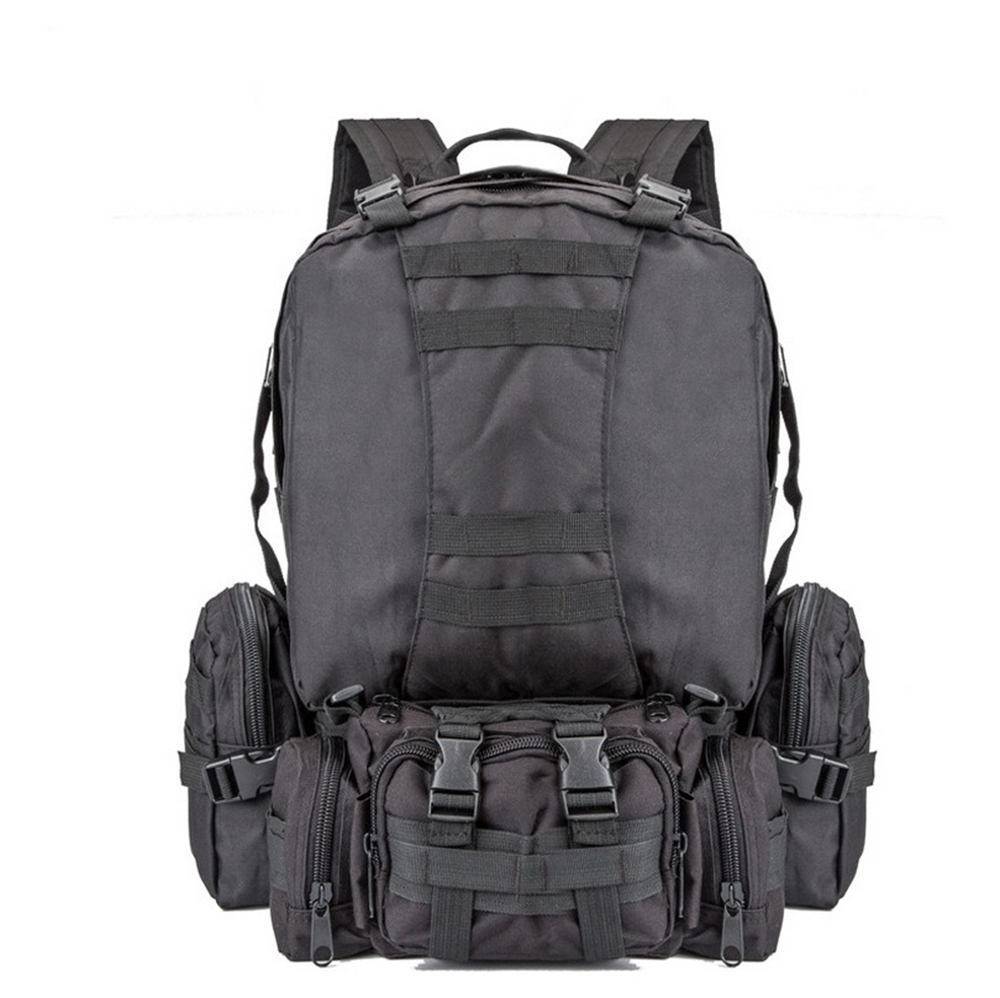 Indepman 600D Nylon Fabric Outdoor Military Molle Tactical Bag Rucksack Backpack 55L Capacity For Climbing Hiking Camping. 55l outdoor camo 4 in 1 molle 600d military tactical backpack camping hiking hunting climbing rucksack mountaineering men bags