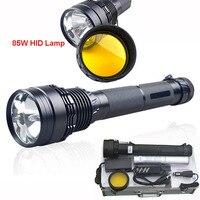 Охота Тактический фонарик светодиодный 85 Вт высокой мощности 8500 люмен HID витые бусины ярче, чем XHP70 светодиодный фонарик для охоты