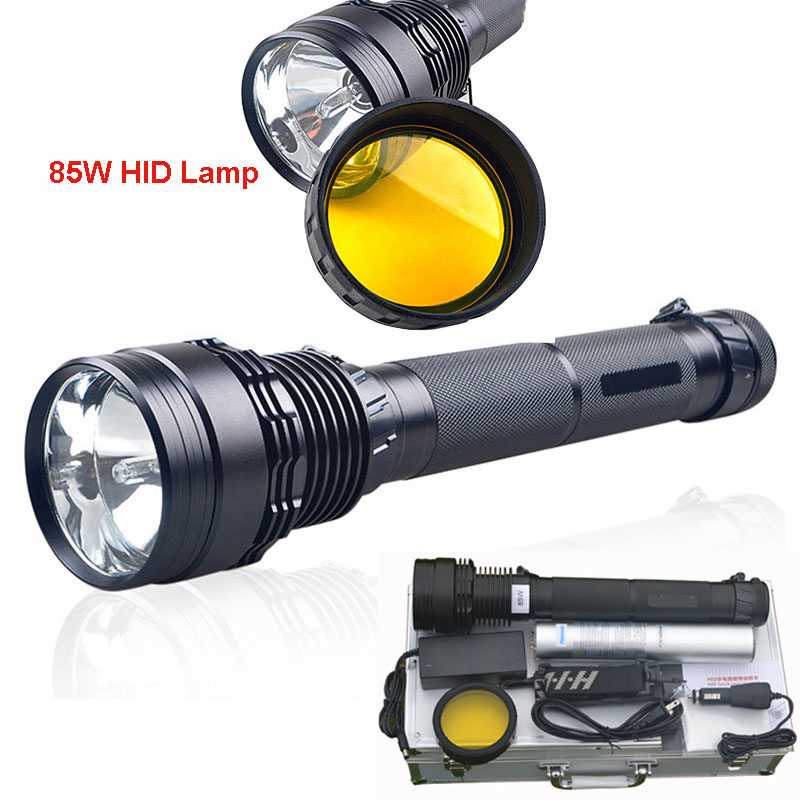 Hunting tactical flashlight Led 85W high power 8500Lumens HID lamp beads brighter than XHP70 LED flashlight torch for Hunting фонарик 8500lumen 45 65 85w hid 8700