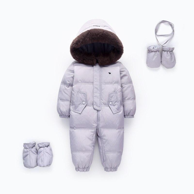 Orangemom/Официальный магазин детские зимние ползунки утка вниз Детские зимний детский комбинезон детская верхняя одежда теплые комбинезоны д...